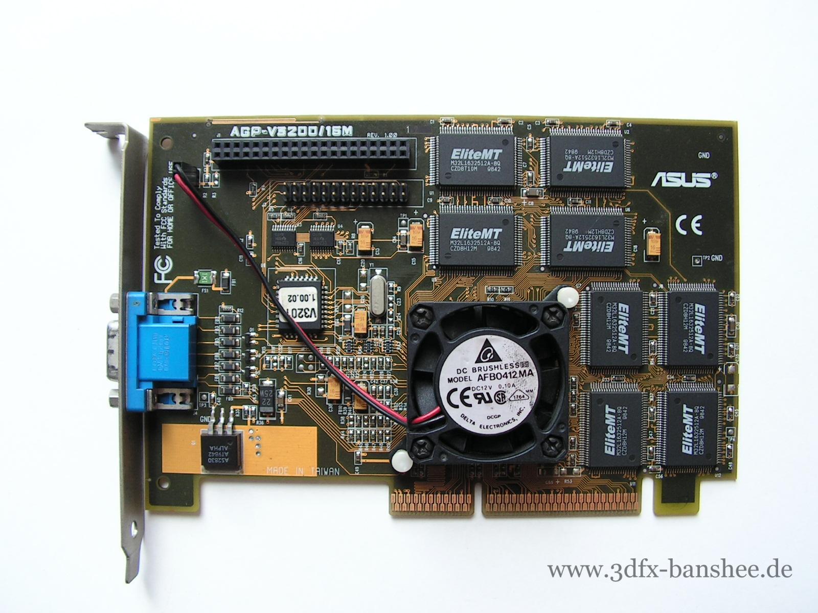 Asus V3200 16M Rev. 1.0 - Front