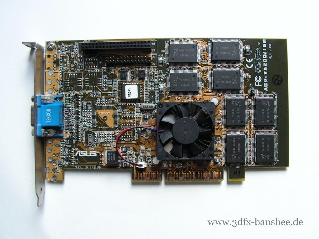 Asus V3200 16M Rev. 2.0 - Front