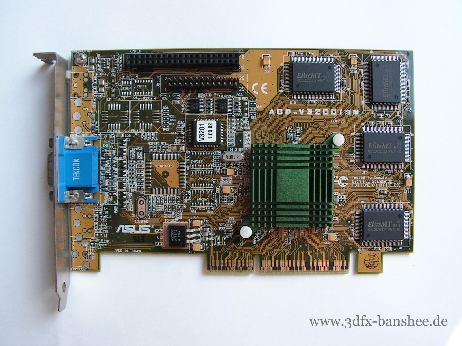 Asus V3200 8M - Front