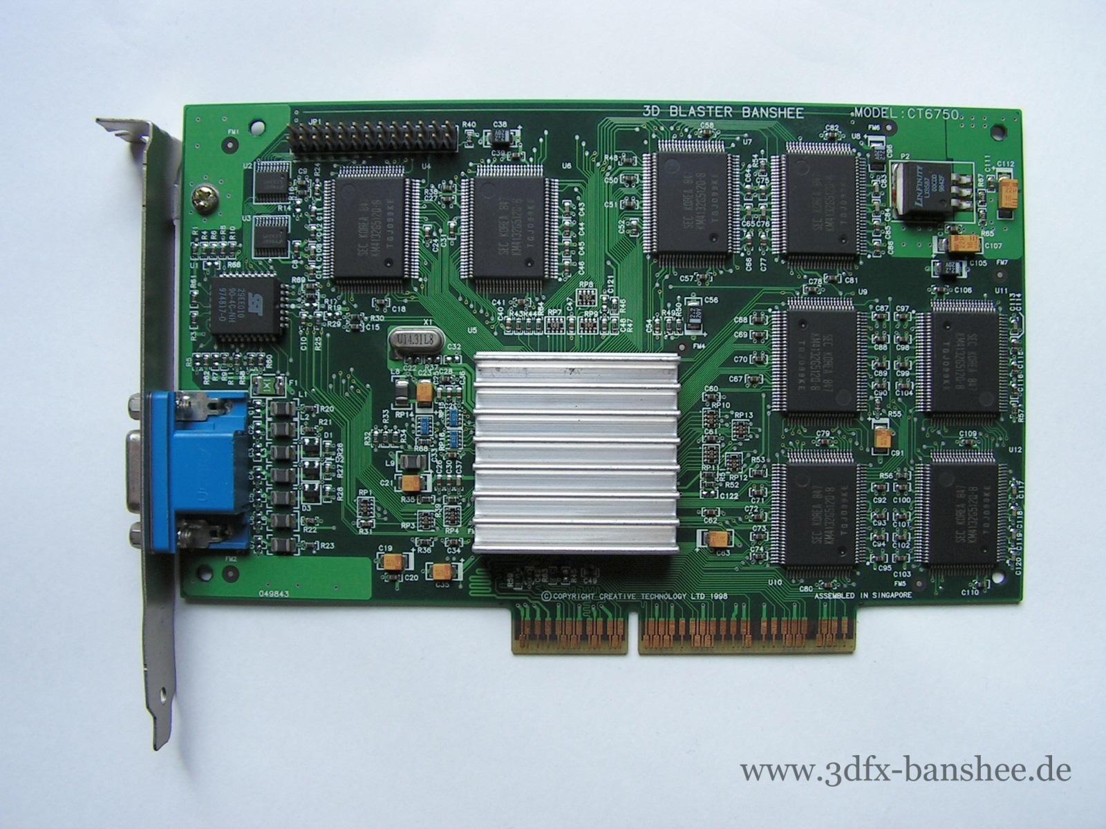 Creative 3D Blaster CT6750 (silver heatsink) - Front